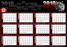 2010 calendar Stock Images