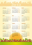 2010 Calendar - construction theme Royalty Free Stock Photos