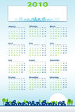 2010 Calendar - construction theme Royalty Free Stock Photo