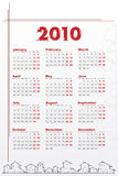 2010 Calendar with houses Stock Photography