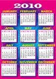 2010 calendario 2 Imagenes de archivo