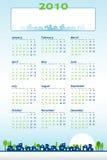 2010 calendario - tema de la construcción stock de ilustración