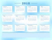 2010 Calender Stock Images