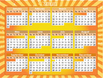 2010 Calender Orange Grunge Glowing Ray Beams Stock Photography
