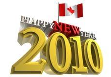 2010 Canada flaga Zdjęcie Royalty Free