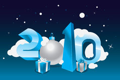 2010 card. 2010 greeting card  concept Royalty Free Stock Images