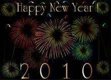 2010 card new year 库存照片
