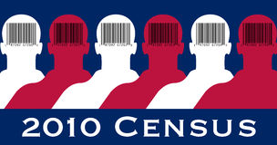 2010 Census American flag Stock Image
