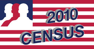 2010 Census American flag Stock Photos