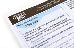 2010 Census Form Stock Photo