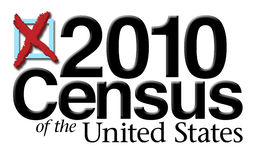 2010 Census Graphic Stock Images