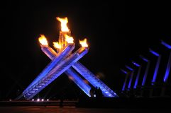 2010 chaudron olympique Vancouver Images stock