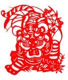 2010 chińskich rżniętych papierowego tygrysa rok Obraz Royalty Free