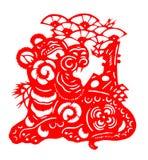 2010 chińskich rżniętych papierowego tygrysa rok Zdjęcia Royalty Free