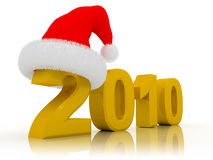 2010 christmas sign. 3d illustration of '2010' sign over white background Royalty Free Stock Photo