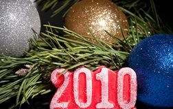 2010 cijfers met spar Royalty-vrije Stock Foto's