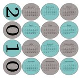 2010 Circles Calendar Stock Photos