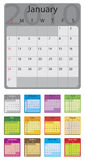 2010 colorful calendar. Vector illustrated Royalty Free Stock Photography