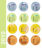 2010 coloured calendar. Vector illustration card calendar colored grung Vector Illustration