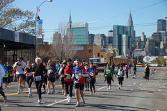2010 corredores de maratón de NYC Fotografía de archivo libre de regalías