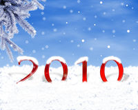 2010. Data del nuovo anno Fotografie Stock