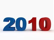 2010 date. Happy New Year 2010 date Royalty Free Stock Photos