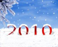 2010. Datum des neuen Jahres Stockfotos