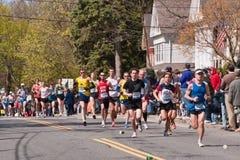 2010 de Agenten van de Marathon van Boston Stock Foto
