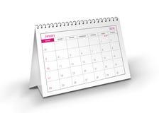 2010 de Kalender van Januari Royalty-vrije Stock Foto's