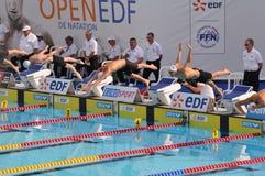 2010 De pływanie Edf otwarty Paris zdjęcie royalty free