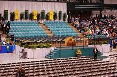 2010 de remise des diplômes d'université de Clarkson Photos stock