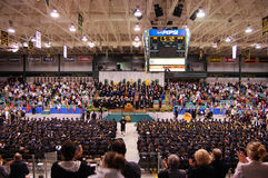 2010 de remise des diplômes d'université de Clarkson Image libre de droits