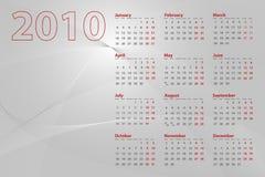 2010 de Samenvatting van de Kalender Royalty-vrije Stock Afbeeldingen