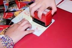 2010 de zegel van het Paspoort van Expo Royalty-vrije Stock Foto's
