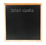 2010 doelstellingen Stock Foto's