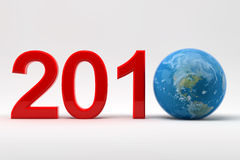 2010 and earth. 2010 write with the earth stock illustration
