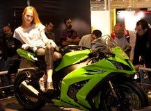 2010 eicma Kawasaki stojak fotografia royalty free