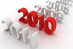 2010 estão aqui Fotos de Stock Royalty Free