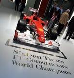 2010 f10 ferrari配方日内瓦马达一显示 免版税库存图片