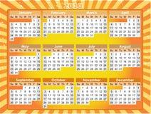 2010 fasci d'ardore arancioni del raggio di Grunge del calendario illustrazione di stock