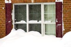 2010 februari storm Arkivbilder