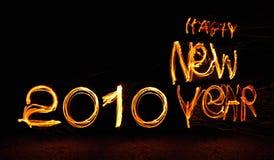 2010 Felices Año Nuevo Foto de archivo libre de regalías
