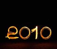 2010 Felices Año Nuevo Imagen de archivo libre de regalías