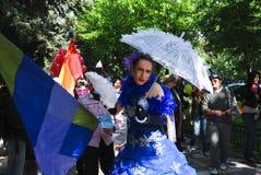 2010 fest участников голубого парада Стоковые Фото
