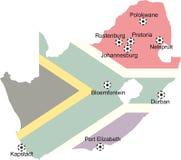 2010 filiżanek mapy piłki nożnej świat zdjęcie royalty free