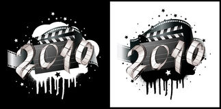 2010 film strip. Greeting card - 2010 film strip Royalty Free Stock Images