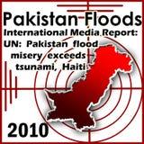 2010 floder pakistan Royaltyfri Fotografi