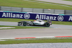 2010 Formula 1 - Malaysian Grand Prix 01. Team: Mercedes GP Royalty Free Stock Images