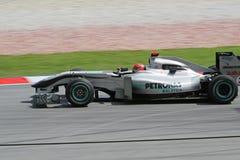 2010 Formula 1 - Malaysian Grand Prix 11. Team: Mercedes GP Stock Image