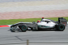 2010 Formula 1 - Malaysian Grand Prix 13. Team: Mercedes GP Royalty Free Stock Image